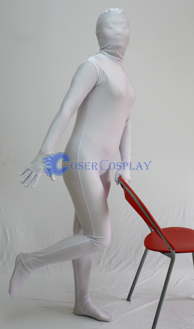 Unicolor White Zentai Halloween Costumes