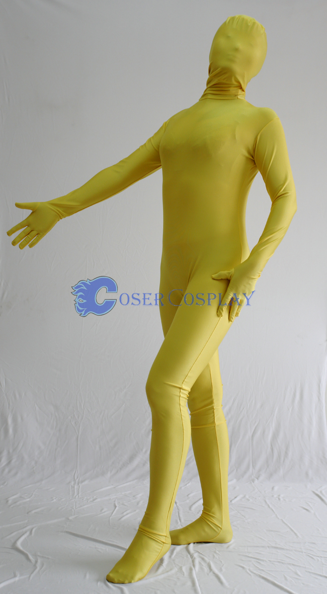 Unicolor Yellow Zentai Halloween Costumes