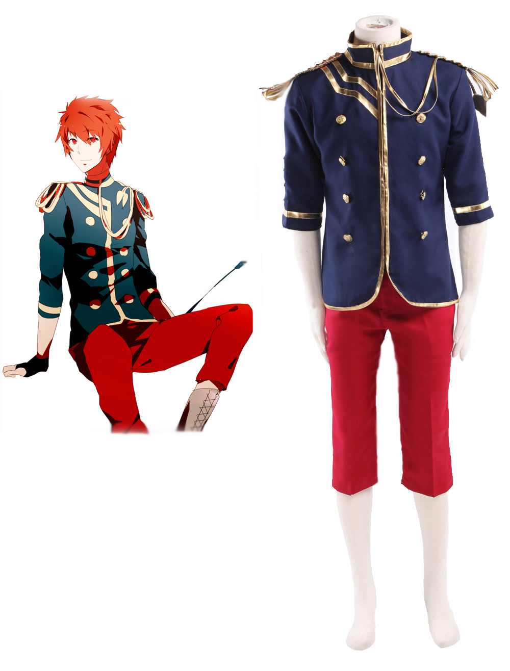 Uta no Prince sama Otoya Ittoki Military uniform Cosplay Costume