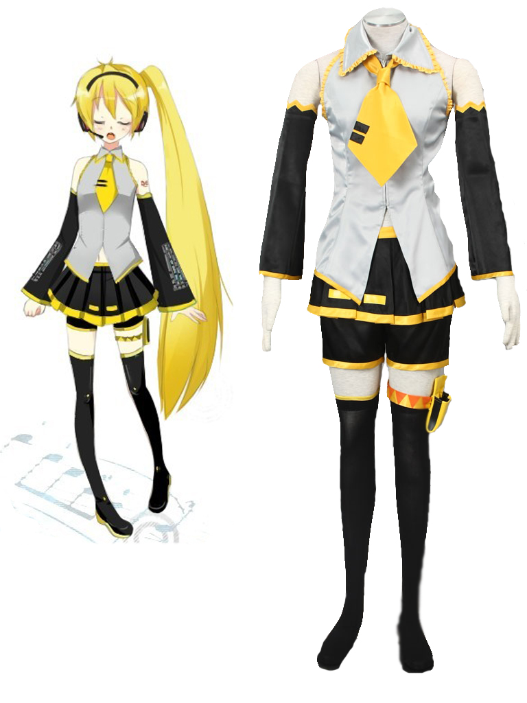 Vocaloid Akita Neru Yellow Cosplay Costume