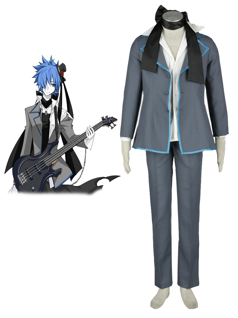 Vocaloid Black Kaito Cosplay Costume