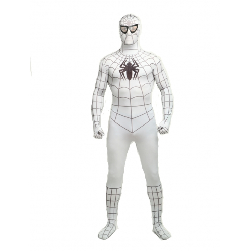White Adult Spiderman Halloween Costume  sc 1 st  Cosercosplay.com & White Adult Spiderman Halloween Costume | cosercosplay.com