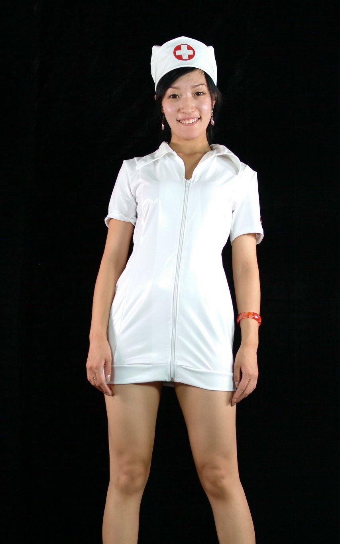 bbdc4865f5b White PVC Nurse Sexy Halloween Costumes