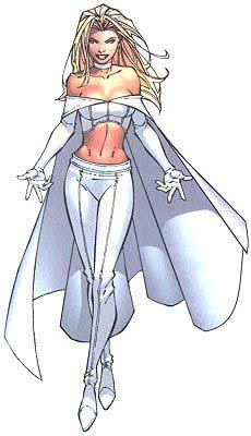 White Queen Emma Frost Cosplay Costume With Cape Halloween