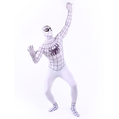 White Zentai Suits Spiderman Costume