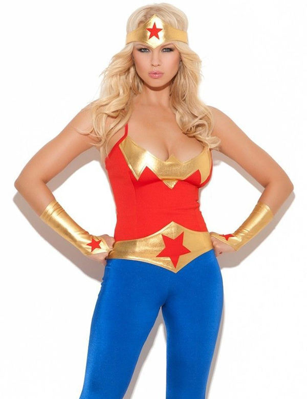 Wonder Woman Catsuit Halloween Costume 16091402