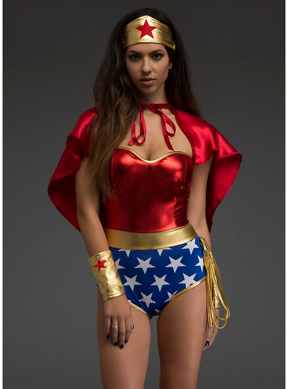 Wonder Woman Cosplay Costume With Cape 16091702