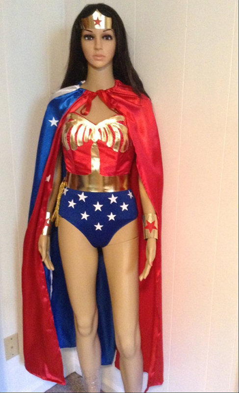 Wonder Woman Costume For Halloween With Cape 16091757