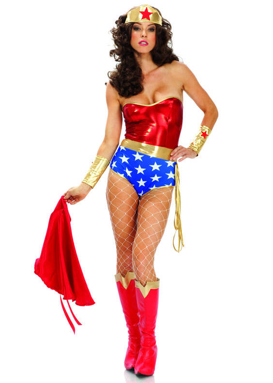 Wonder Woman Leotard With Cape Costume 16091408