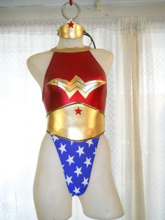 Wonder Woman Shiny Spandex Leotard Costume 16091419