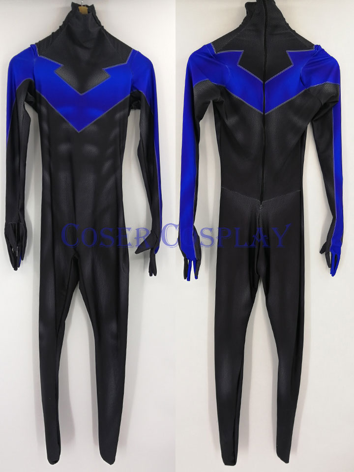 X Men Nightwing Dick Grayson Cosplay Costume 0826