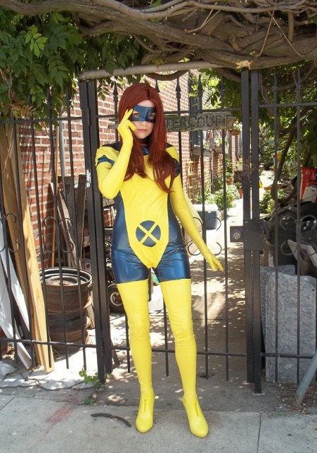 X- Men Jean Grey Cosplay Costume PVC Catsuits