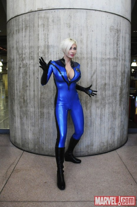 X-Man Marvel Sue Storm Cosplay Costume Catsuits