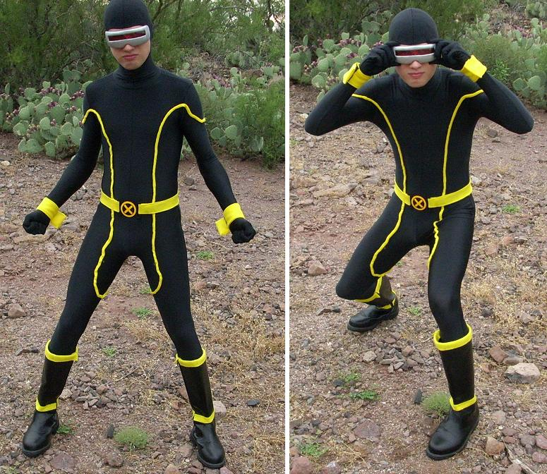 X-Men Cyclops Costume Zentai Spandex Suits