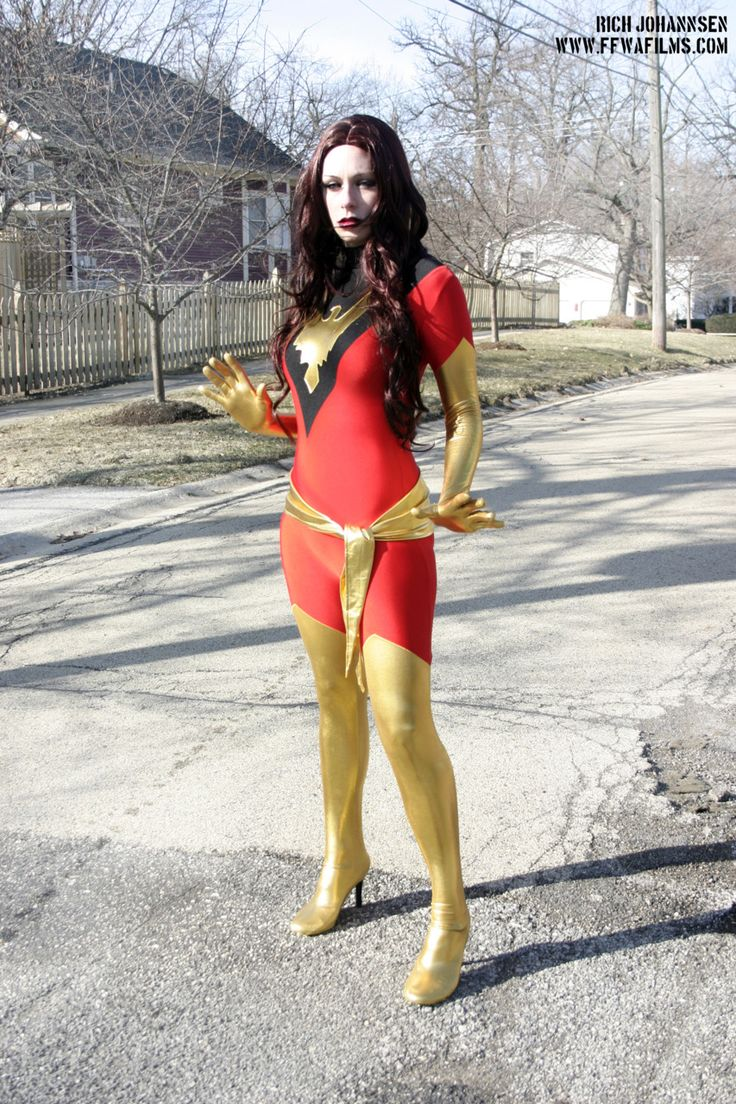 X-Men Dark Phoenix Jean Grey Cosplay Costume Red