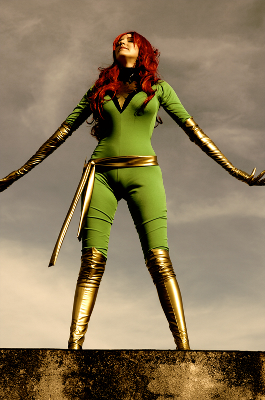 X-Men Dark Phoenix Jean Grey Sexy Cosplay Costume