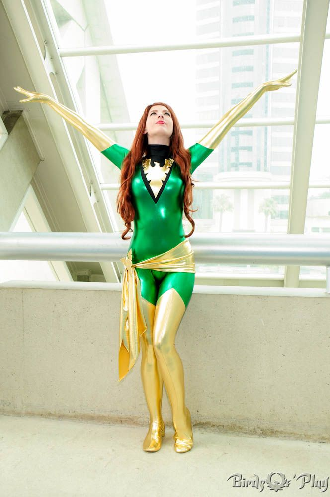 X-Men Dark phoenix Jean Grey Costume Skin Suit