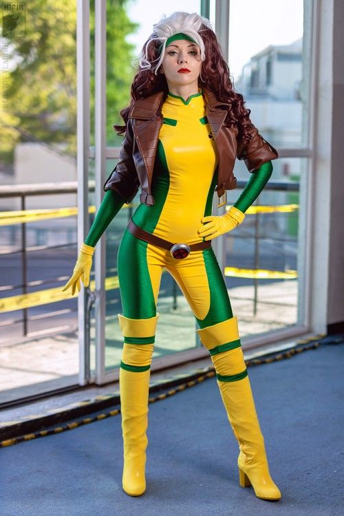 X-Men Rogue Cosplay Costume Bodysuit Women