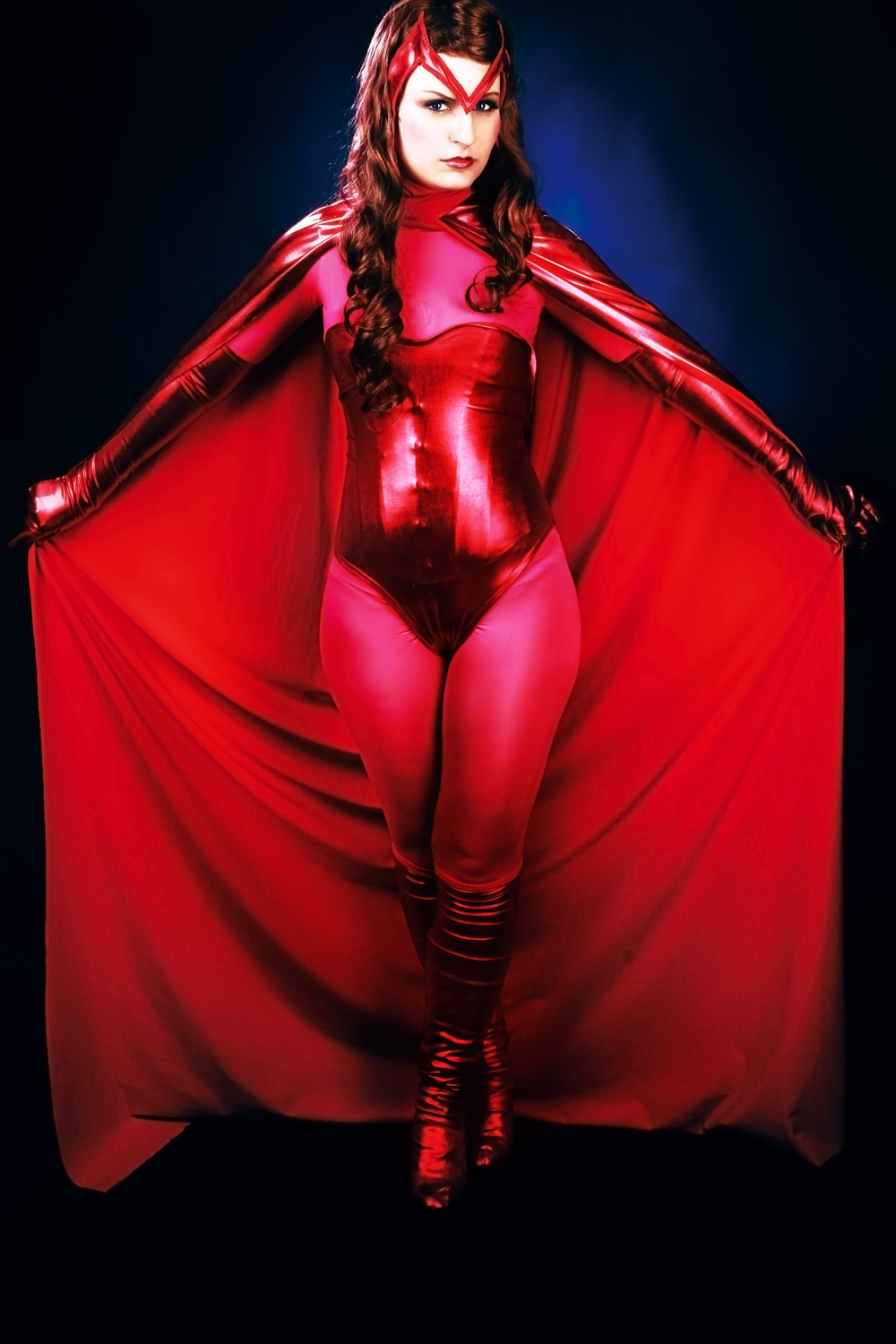 X-Men Scarlet Witch Cosplay Costume With Cape