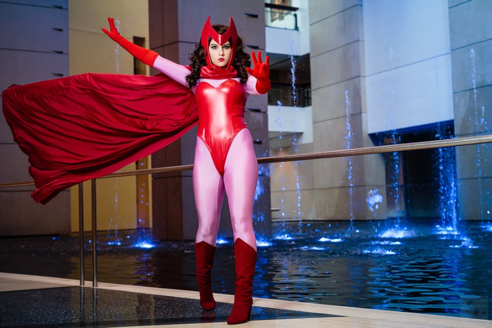 X-Men Scarlet Witch Costume With Cape | cosercosplay.com Incredibles Costume