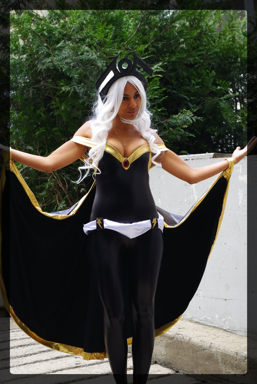 X-Men Storm Ororo Munroe Catsuits With Cape