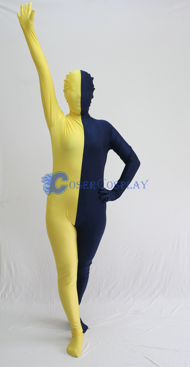 Yellow And Royal Blue Zentai Suits