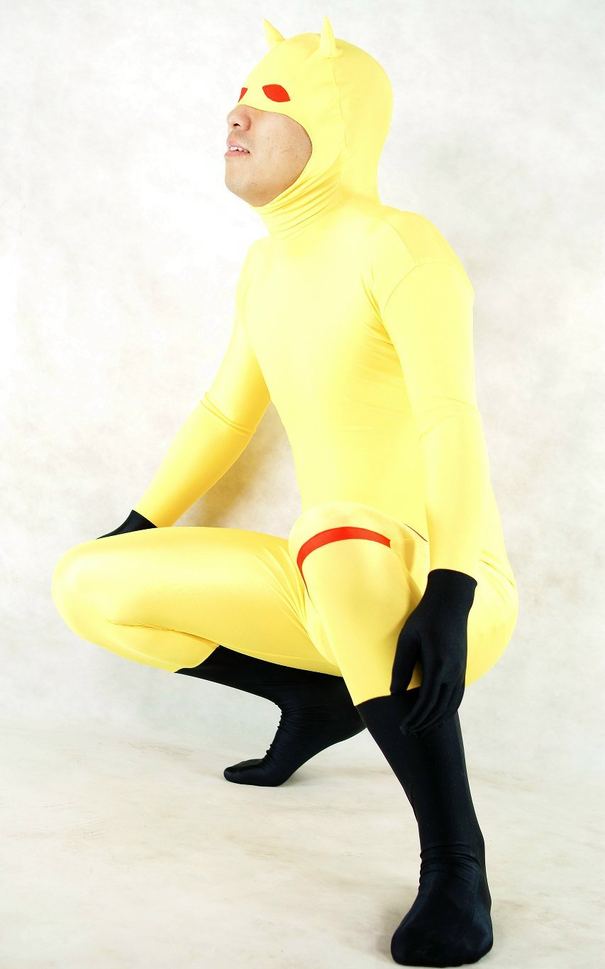 Yellow Cat Spandex Halloween Costume Zentai