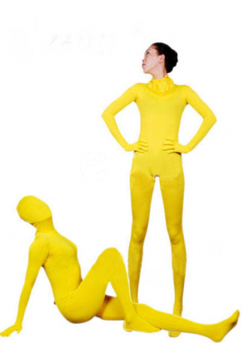 Yellow Lycra Fabric Zentai Suits