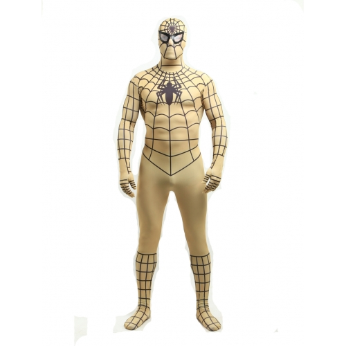 Yellow Lycra Spiderman Halloween Costume