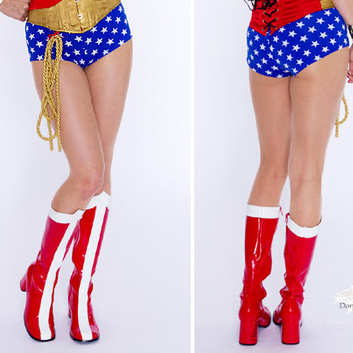 Z16091720 Wonder Woman Thick Heel Boots
