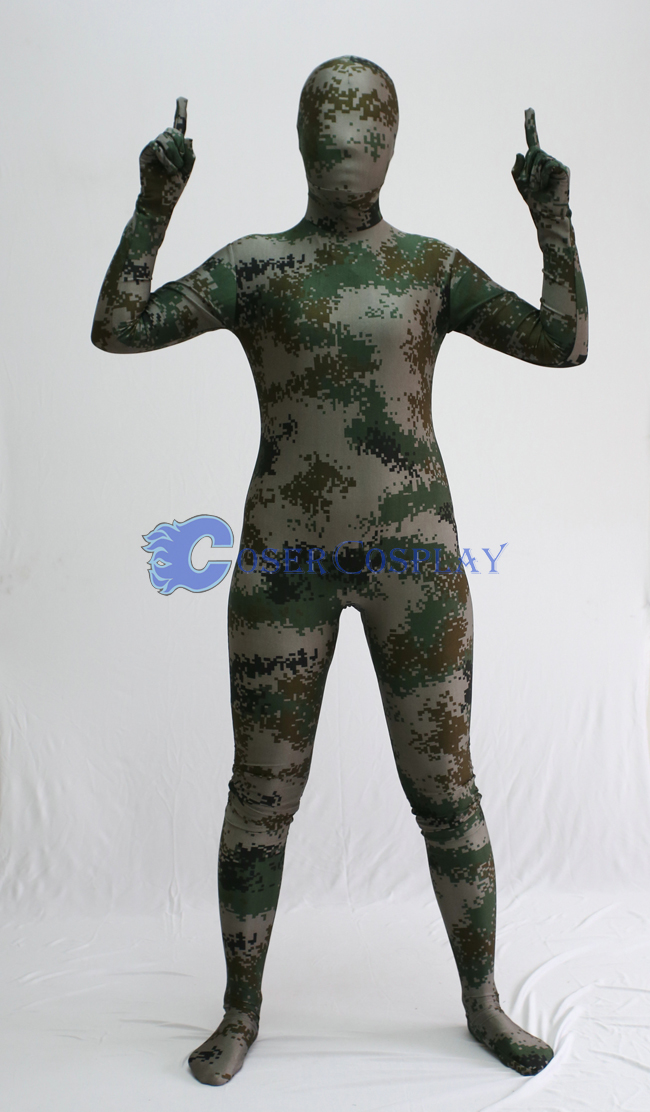 Zentai Camouflage Halloween Costume Ideas
