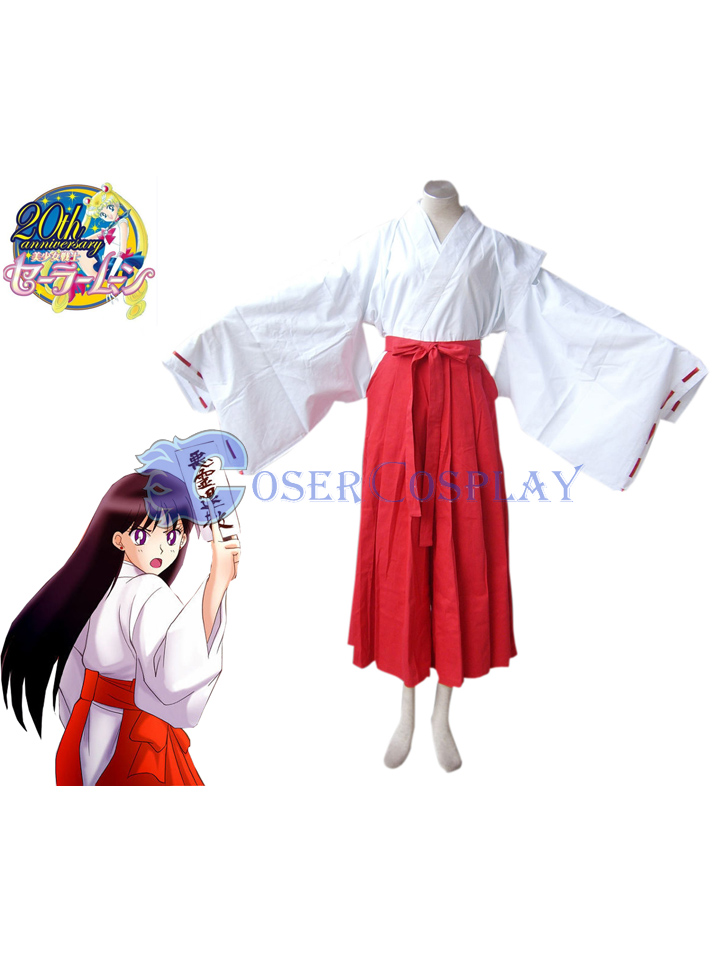 Sailor Moon Crystal Mars Hino Rei Kimono Psychic Cosplay Costume